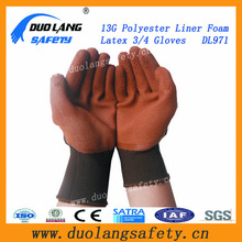 The cotton poly coated the latex working gloves for safety protection