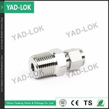 YAD-LOK China Supplier Bite Type Swivel Thread Male Elbow Stainless Steel Tube Fitting