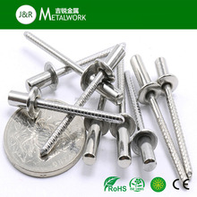 M9 M12 A2 A4 SS304 SS316 Stainless Steel Dome Head Flat Head Closed End Type Blind Rivet DIN