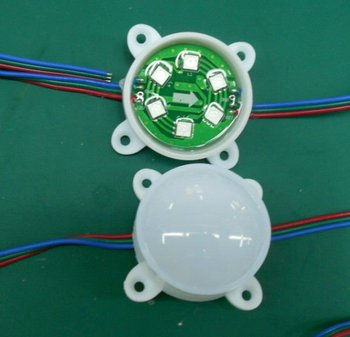 led module,DC12V WS2811 pixel module, with 6pcs 5050 RGB SMD LED,50mm diameter,20pcs a string
