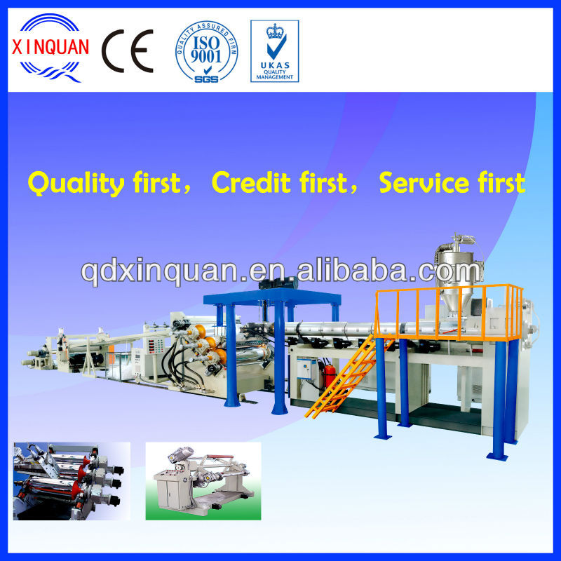 PE, PP, PS, ABS, PMMA, PET sheet manufacturing equipment with price