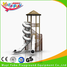 Customized outdoor playground or indoor playground kids stainless tube steel slide