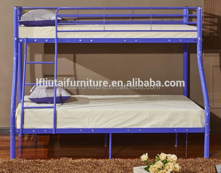 Colorful kids furniture metal triple bunk bed for sale for Metal bunk beds for sale cheap