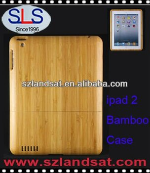hot sale bamboo case for ipad 4 case for ipad 3 IBC09
