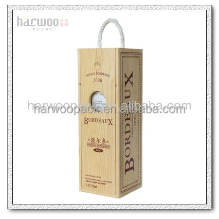 Lacquer pine wood gift boxes for wine glasses