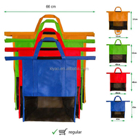 4 Sizes Grocery Bags Reusable Supermarket
