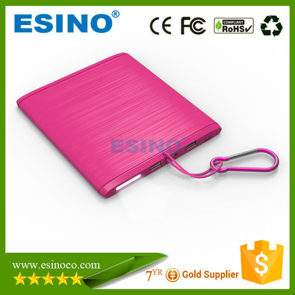 2015 Factory direct deal 5V 2.1A double usb Solar Power Bank 10000mah