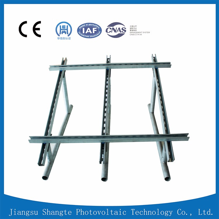 Ground solar mounting system PV glass panel mounting aluminum brackets