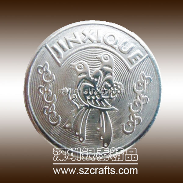 Antique pewter coin casting in metal