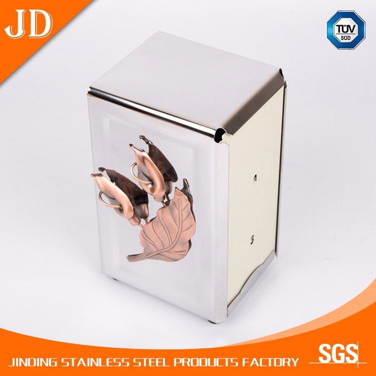 metal tissue box restaurant paper napkin dispense holder