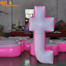 Inflatable promotional model type pretty giant alphabet letters logo