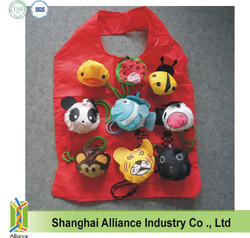 Ladybug + Panda + Lion + Bee + Monkey + Duck + Cow Animal Foldable Shopping Bag