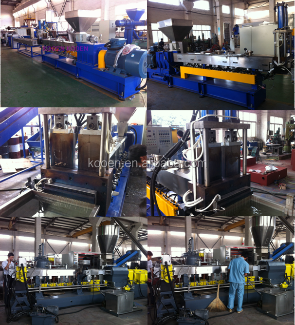 KOOEN waste PET plastic recycling hot/cooling washing/granulator machine