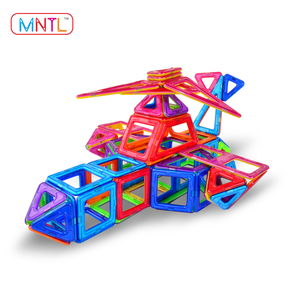 MNTL 208Pcs Magic Educational Magnetic Blocks 3D DIY Toys Magnetic Building Construction Set Movable With Gear Set