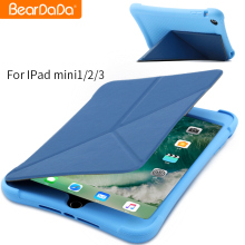 Good quality silicon case for ipad mini,pu leather cover for ipad mini case