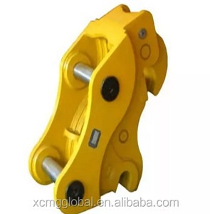 Hydraulic quick coupling connector for excavator buckets quick couplers and backhoes