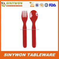 Melamine Plastic Spoon And Fork Set For Kids