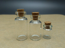2ml 3ml crimp type glass test vial with cork for perfume