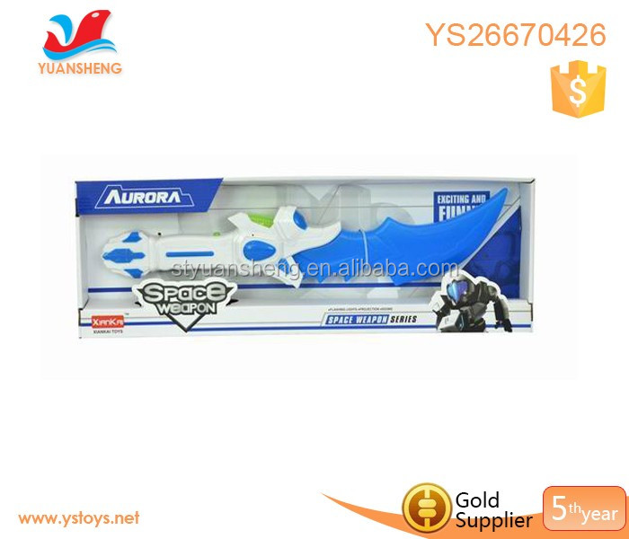 Wholesale children play sword with light and musical sword space led sword