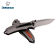 Custom handmade titanium with belt clip camping folding pocket knife