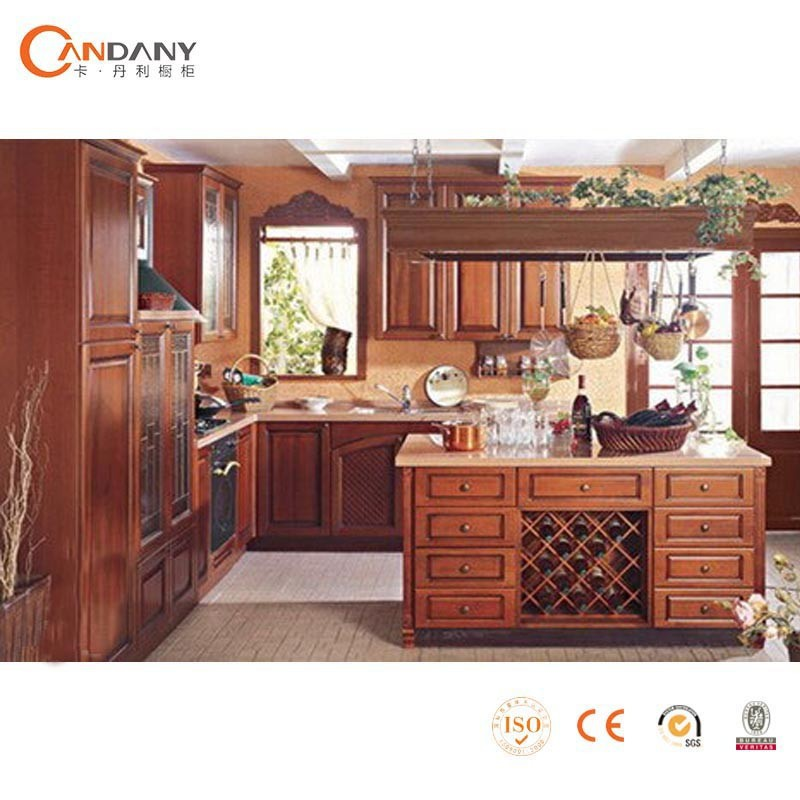 Special design solid wood kitchen cabinet carved wood for Carved kitchen cabinets