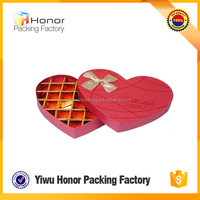 Custom logo printing low price valentine day use heart shaped wholesale rigid chocolate box empty candy boxes