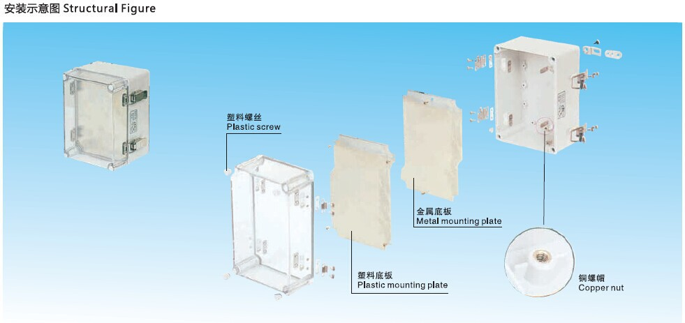 Saipwell Certificated Waterproof Box for Home Use 200*100*100 200*100*100 IP66 Switch Box with CE
