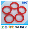 custom molded Red food grade silicone flat rubber washer