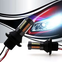 py21W wy21w Switchback LED Turn Signal Lights DRL Bulbs Canbus Free Error DRL 4014 66 SMD Turn Signal Reverse Lights