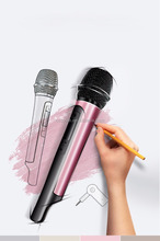 Fashion Bluetooth Microphone Handheld Wireless Microphone Car KTV Home Microphone