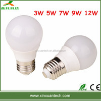 China manufacturing 12v led bulb e27 3w 5w 7w 9w 12w dimmable led light bulb