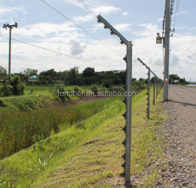 Power shock electric fencing system with <strong>GSM</strong>/CCTV for electric fence house perimeter security
