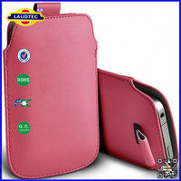 pull tab PU leather pouch cover case for BlackBerry Z3 laudtec