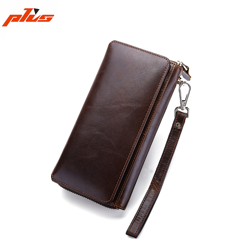 2016 Hot Selling Wholesale Men Leather Clutch Multi-function Human Leather Wallet