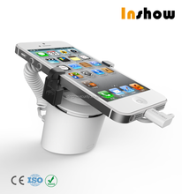 Inshow new design elegant secure display cell phone holder anti-theft device for mobile phone