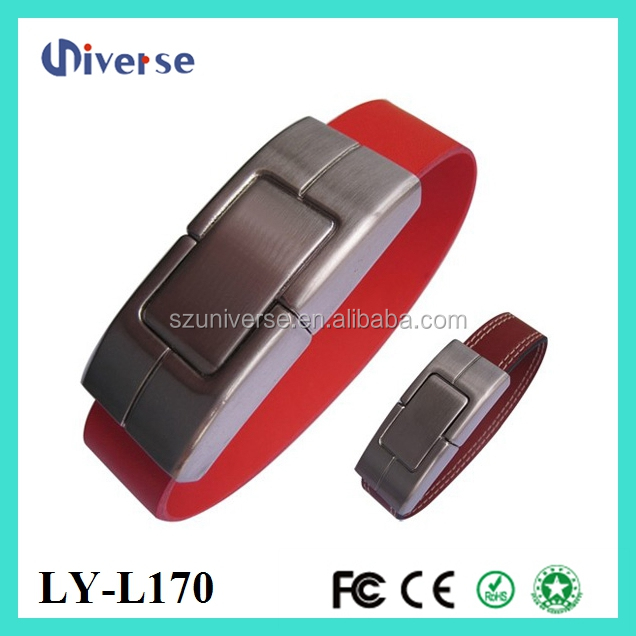 Hot selling 16GB usb flash drives 3.0 new design usb promotional gifts watch/wrist shape strap leather usb hot sale