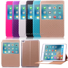 Factory Price Window View flip leather smart cover case for ipad mini 4