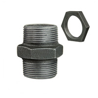 Malleable iron black and galvanized standard nipples