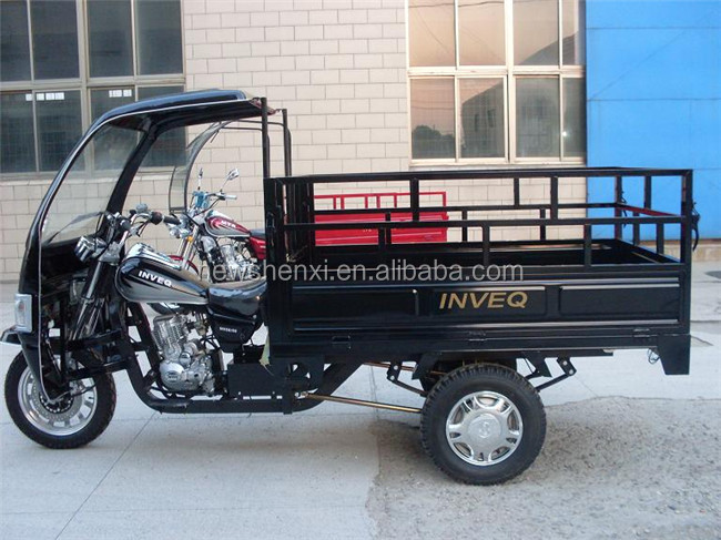 CE Certification Cabin Motor Tricycle Three Wheel Cargo Trike with Front Tent