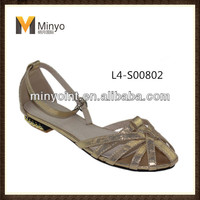 Minyo 2014 Summer fashion cozy elegent women flat sandals for woman