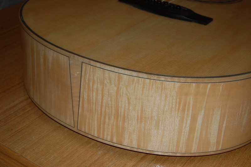 yunzhi fully handmade maple wood flattop guitar