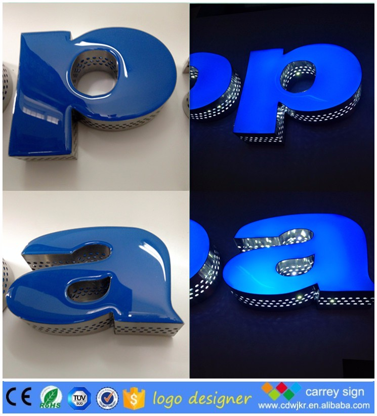 Wholesale manufacture custom made blue led signs china