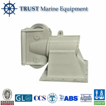 Cast steel deck mounted 360 degree swivel head anchor fairlead