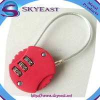 Customized Color 3 Digit Combination Wire Padlocks