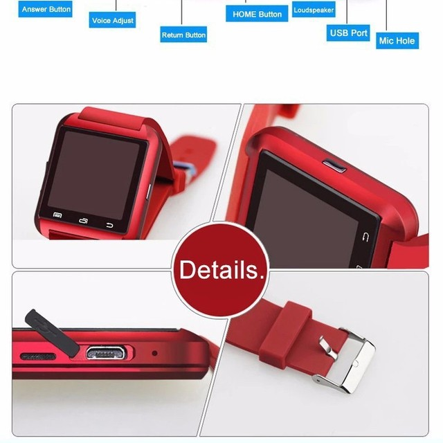 Bluetooth Smart Watch U8 fashion silicone geneva U Watch for Samsung S4/Note 2/Note 3 HTC LG Huawei Xiaomi Android and IOS Phone