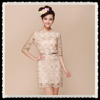 New Elegant Lace Women Dresses With Belt Japanese Prom Dress