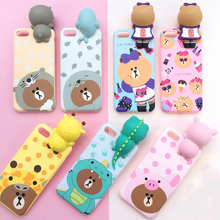 2017 new design good quality TPU 3d phone case for iphone7,3d cartoon case for iphone 7plus
