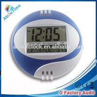 Large display digital wall clock with date