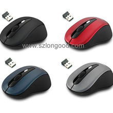New USB Optical Wireless Mouse 2.4G Receiver Silent Quiet Mouse For Computer PC Laptop Desktop ( PC Mouse) colorful