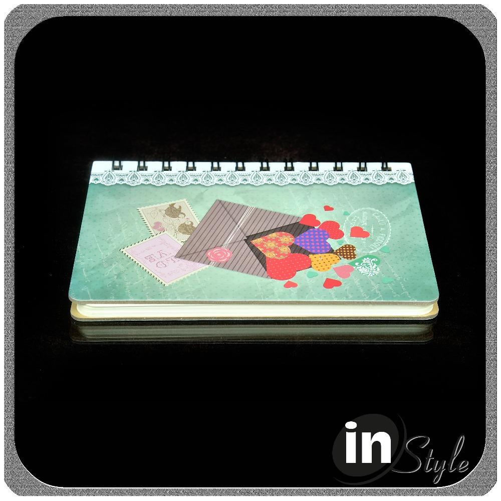high quality hard cardboard lace journal books